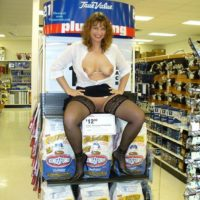 wife naked in hardware store