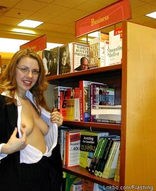 Book Store Boob Flash