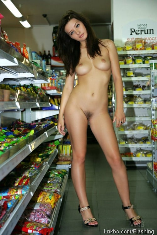 girl naked in public