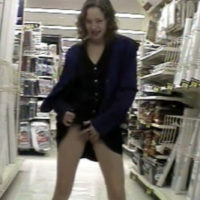 girl flashing pussy in walmart