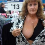 saggy boob flash at walmart