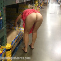 Wife flashing her ass in Costco