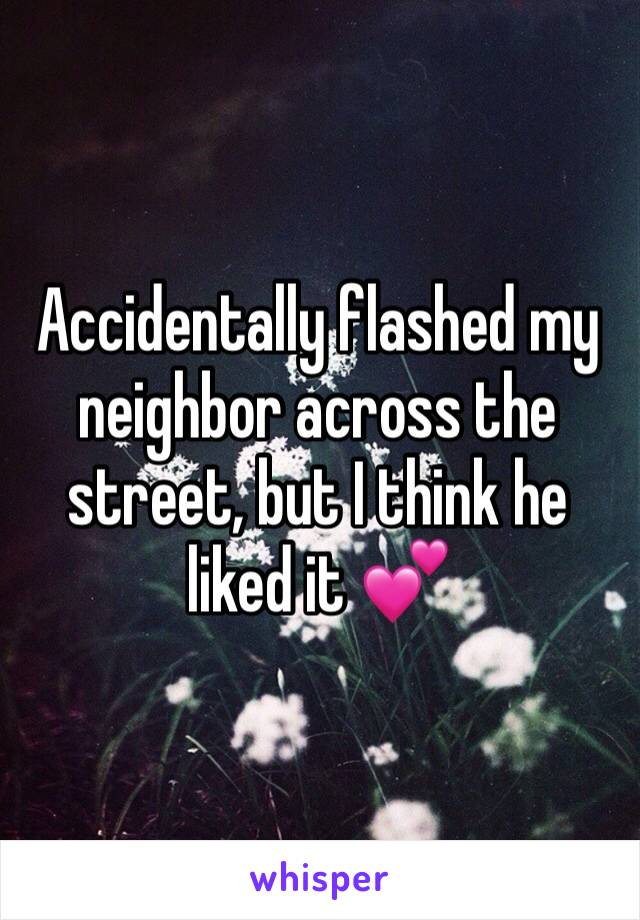Girl confesses to flashing her neighbor.