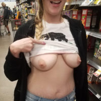boobs in grocery store