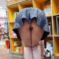 miss4june flashing in store with no panties on